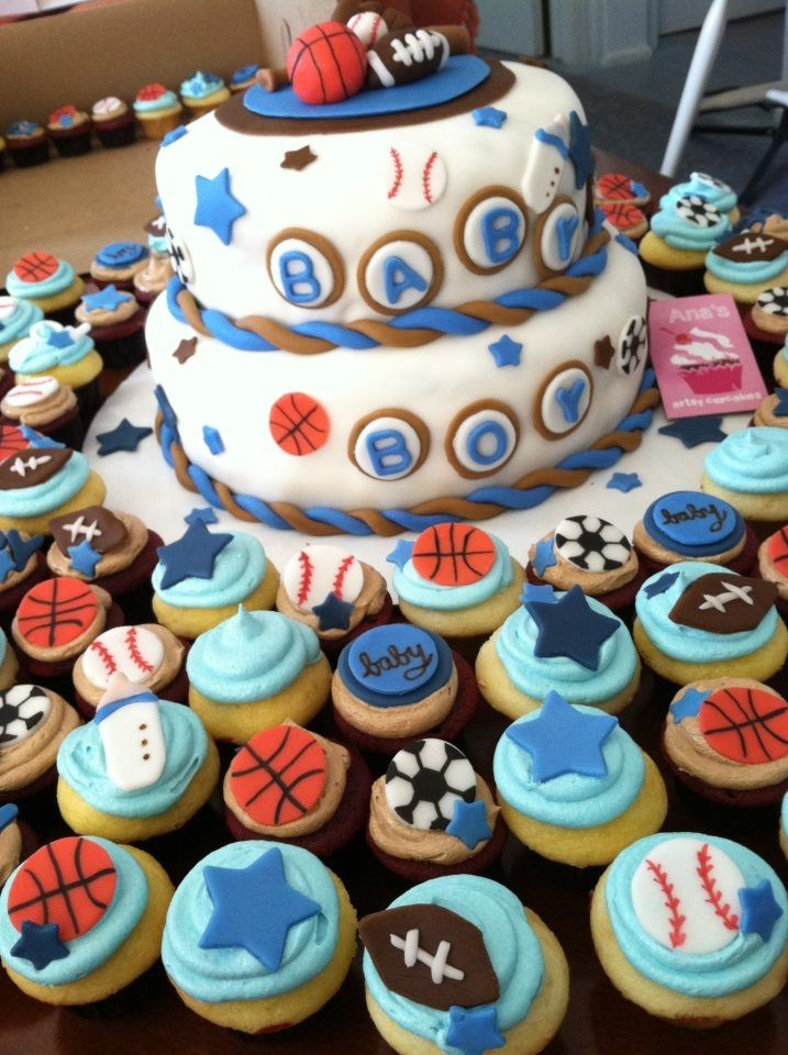 sports themed baby shower cake ideas pinterest