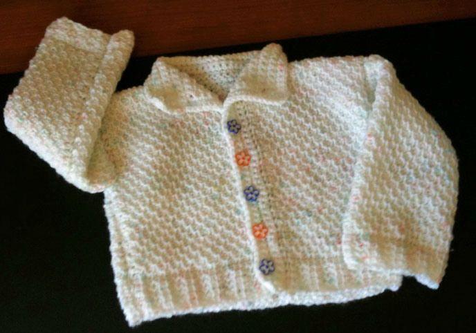 Ayasha Baby Cardigan Pattern tunisian crochet Pinterest