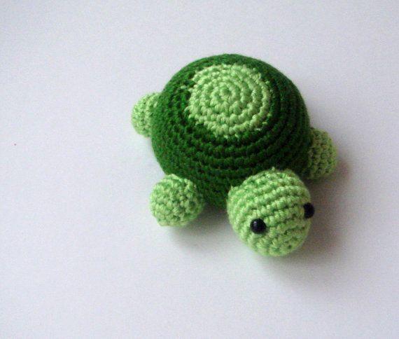 Amigurumi Turtle : Crochet amigurumi turtle spring lucky luck