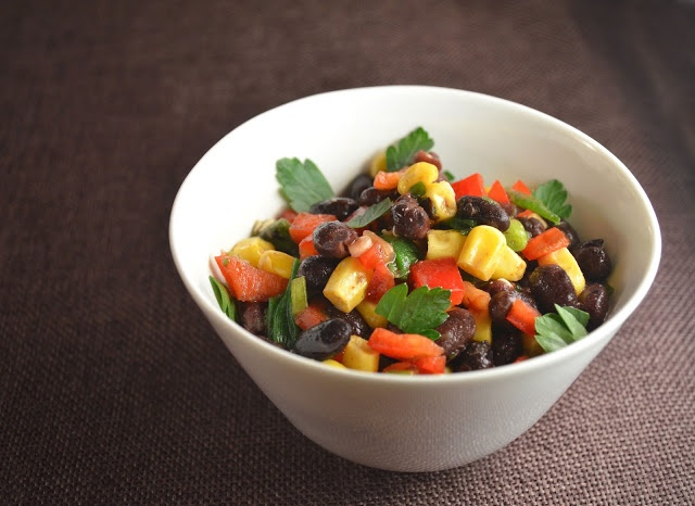 ... -Sweet and Spicy Black Bean & Corn Salsa with Easy Cheesy Quesadillas
