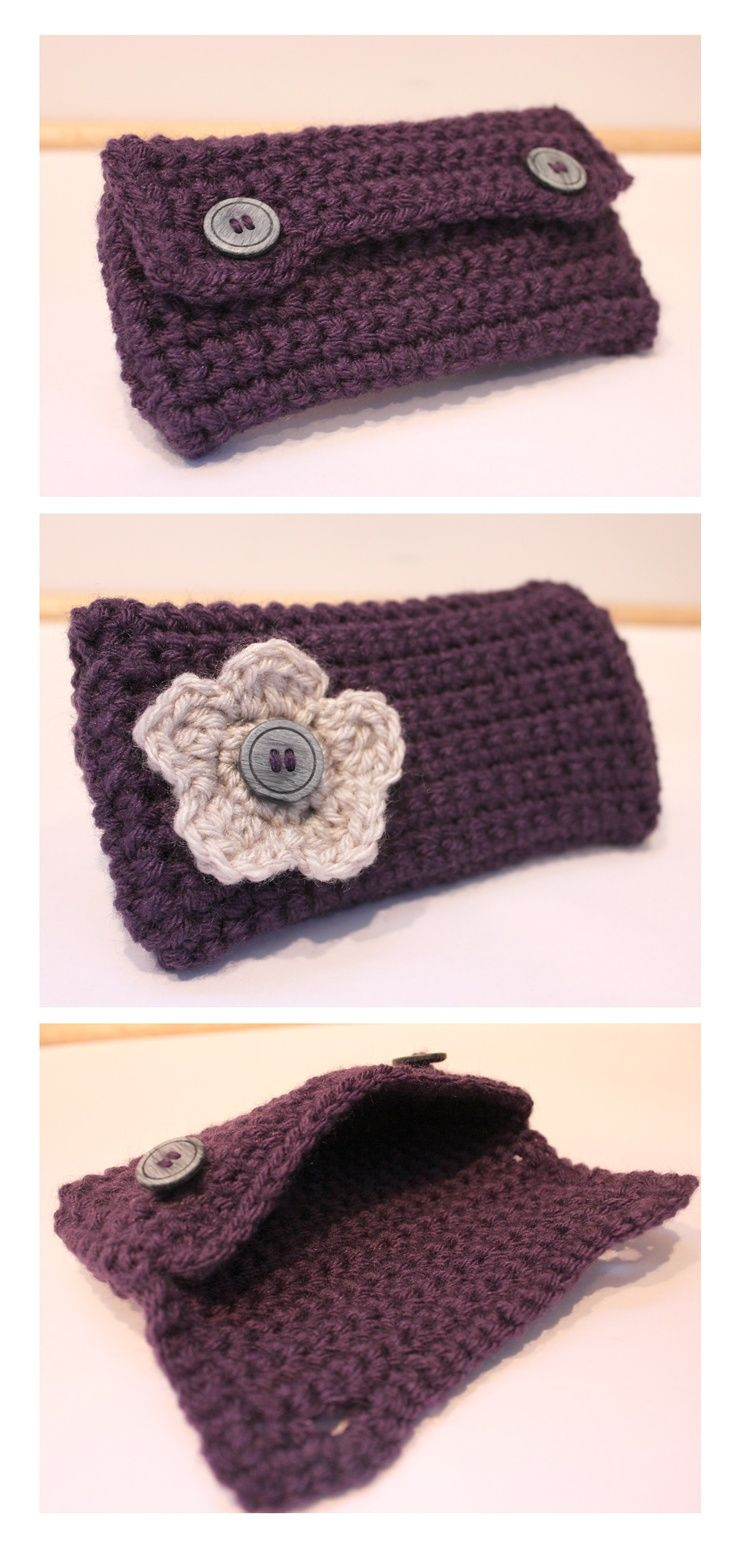 Crochet Clutch Pattern : Crochet Clutch - FREE Pattern! Crochet Pinterest