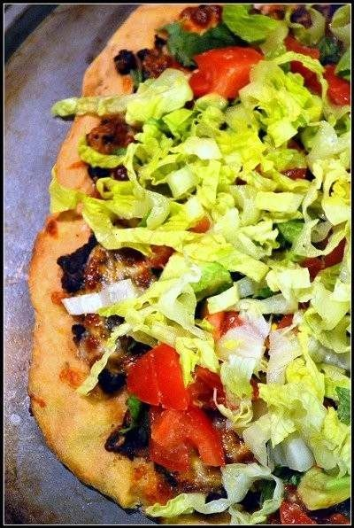 Black Bean Mexican Pizza Recipe — Dishmaps
