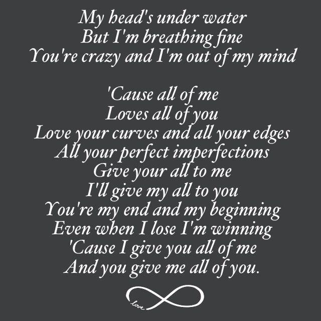 john legend all of me lyrics love songs quotes pinterest