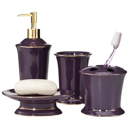 Lavender pleats bath collection decorating the home for Stardust purple bath collection