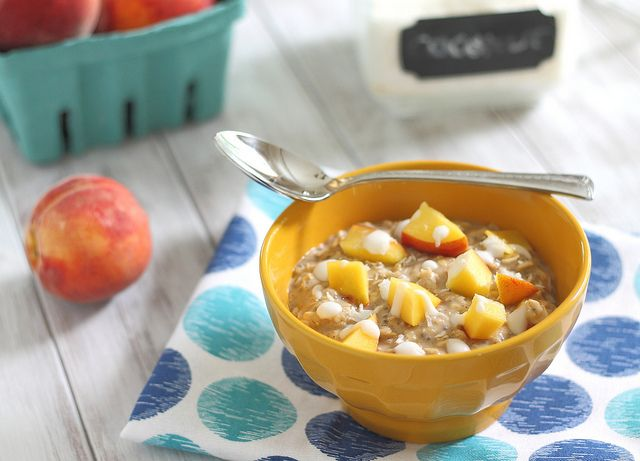 peach and coconut cream oatmeal | yum | Pinterest