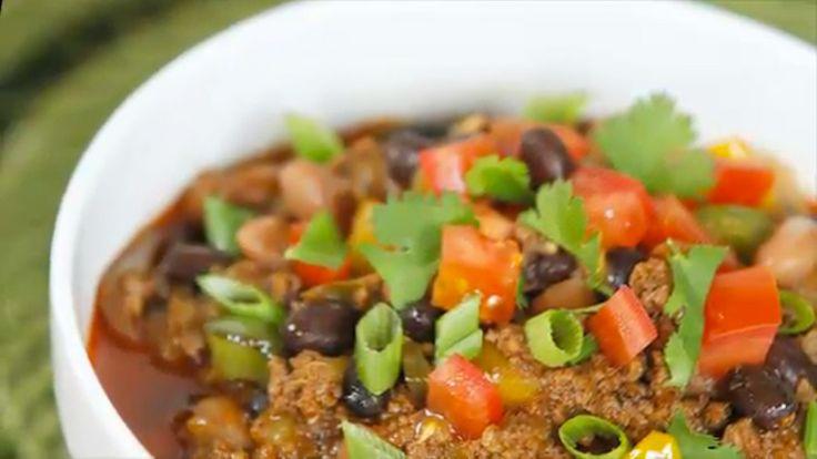Beef & Bean Chili Verde | #Recipe of the Week | Pinterest