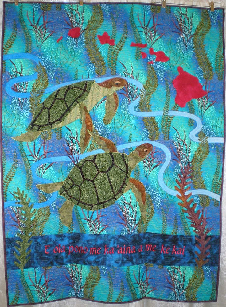 Quilt Patterns With Turtles : Sea turtle quilt Quilts / fish Pinterest