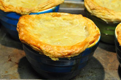 Pork Cracklins | Pancetta, White Bean & Swiss Chard Pot Pies