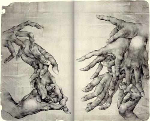 pintura clasica manos
