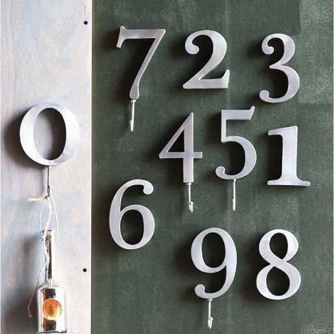 Metal numbers wall decor favorite places spaces for Number 5 decorations