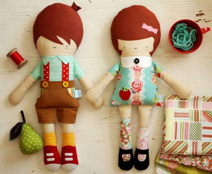 Ткань Кукла шаблон - Мальчик Кукла строчки - Ханс куклы