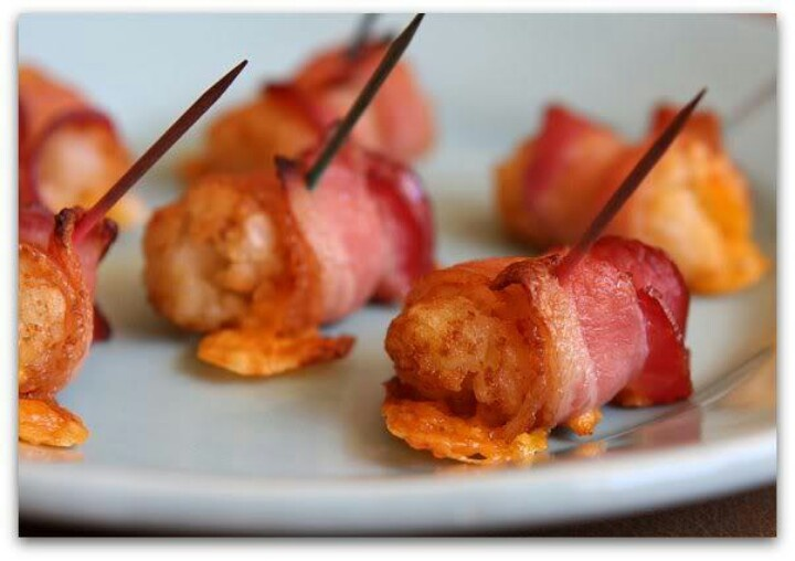 Bacon and cheese wrapped tater tots! | Food | Pinterest