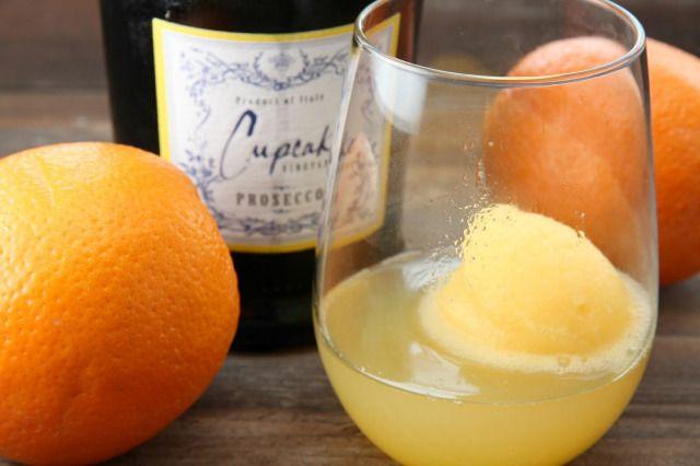 Champagne Sorbet Cocktail | food | Pinterest