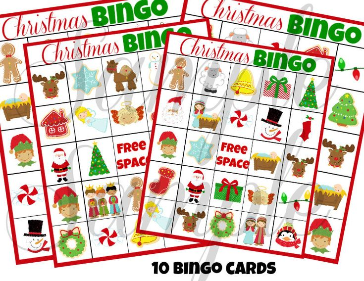INSTANT DOWNLOAD Christmas BINGO Holiday 3 in 1 Games Printable ...