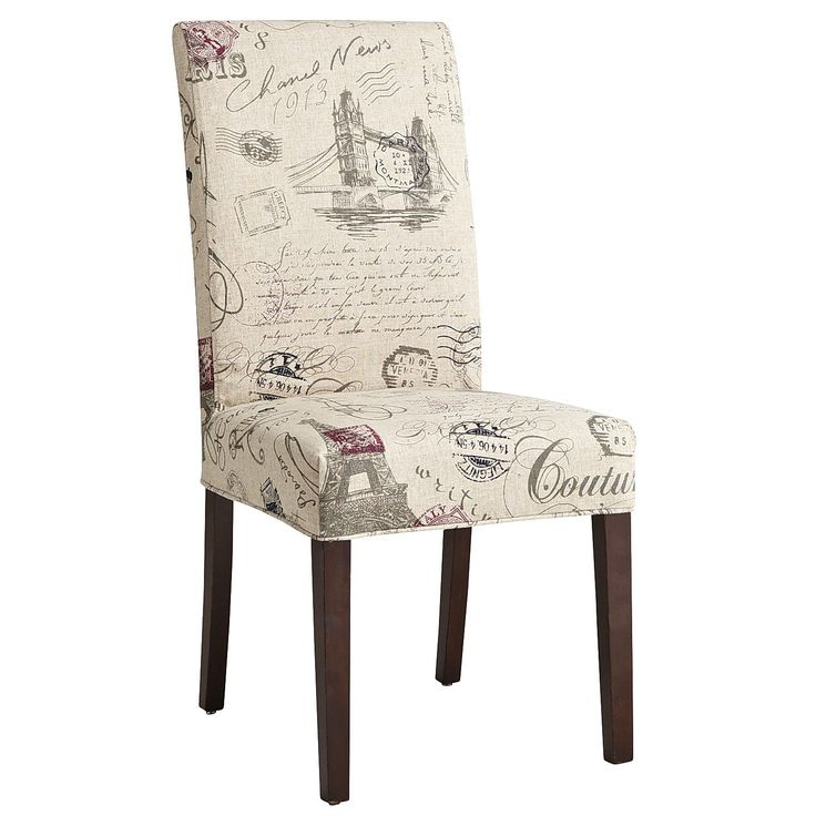 dana slipcover script dining chair dining room delight pinterest