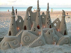 Birthday candles for sandcastles
