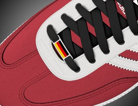 Add custom flag to shoes. Custom adidas sambas shoes