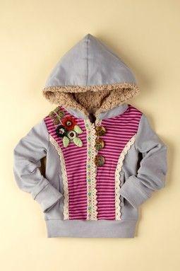 Baby Sara Patch Embellished Hoodie Jacket