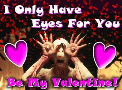 horror movie valentines day cards