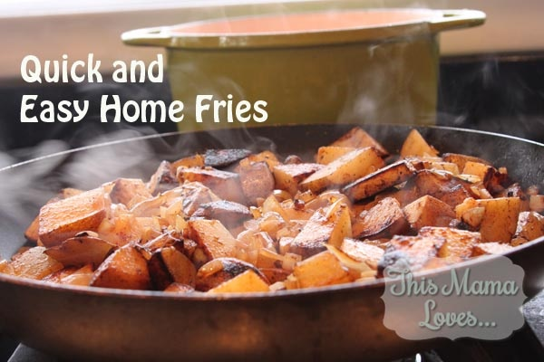 Quick and Easy Home Fries plus plant based weekly meals