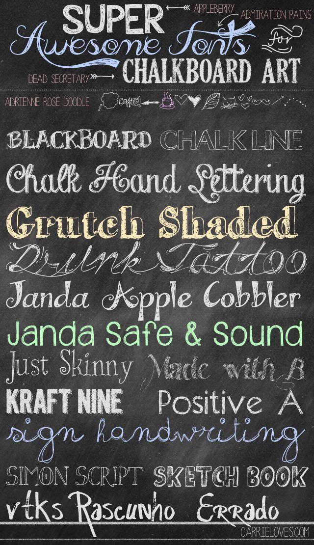 Free Fonts for Chalkboard Art