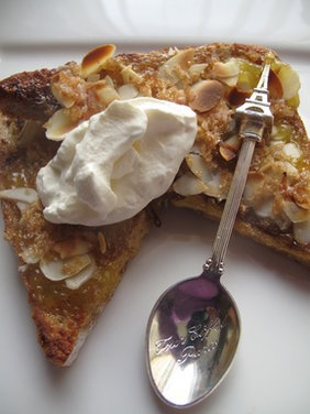 Bruléed (lemon curd) French toast with almonds | Recipe
