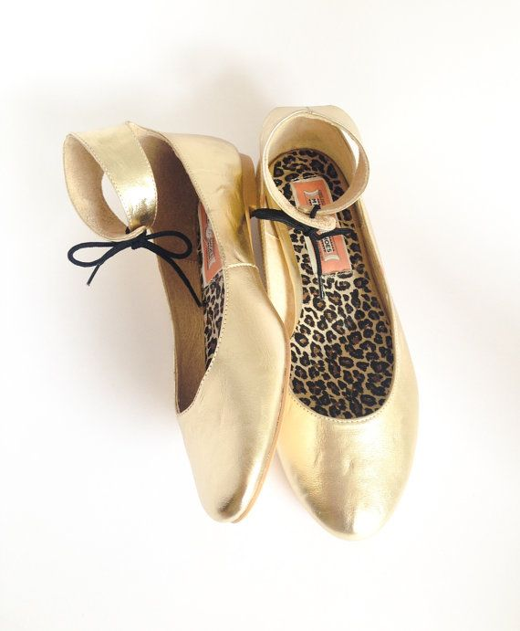 Mina Shoes Balerina Merlina Golden - Textile flat ballerina on Etsy