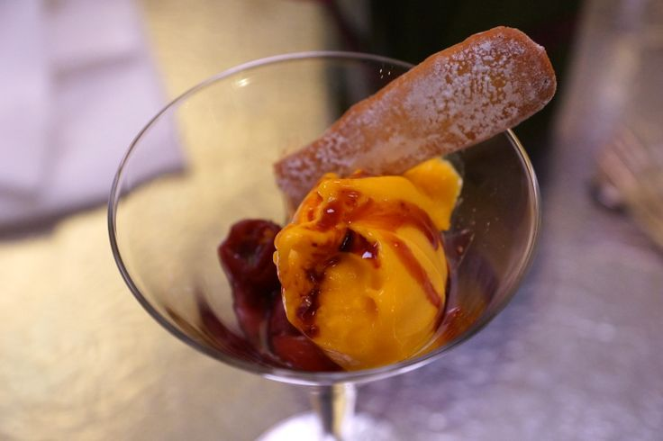 ... gelato al mango e zenzero novello | Cherry soup with mango and ginger