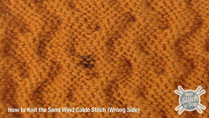 Crochet Stitches Wrong Side : Sand Wind Cable Stitch Wrong Side Yarn, Knitting Crochet Pinterest