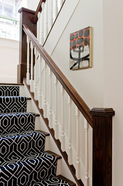 Stairs With Patterned Carpet The Dressing Room Pinterest