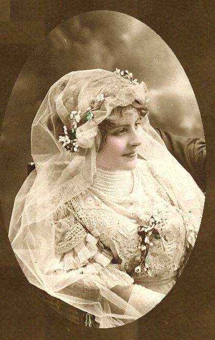 Circa 1905 bride.