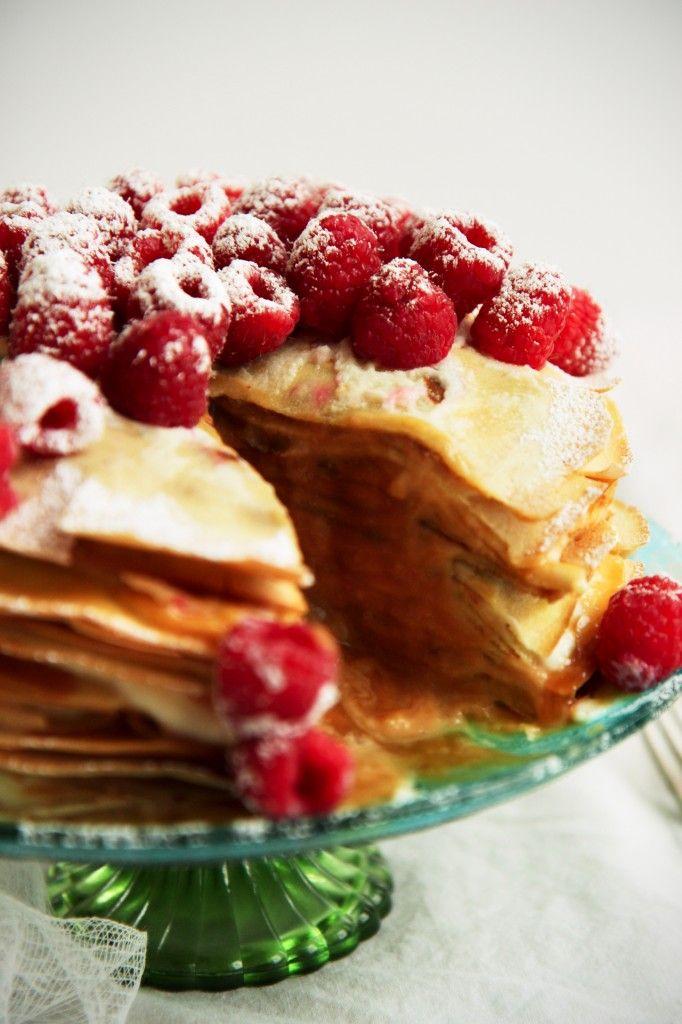 Caramel & Mascarpone Crepe Cake + recipe #caramel #mascarpone #french
