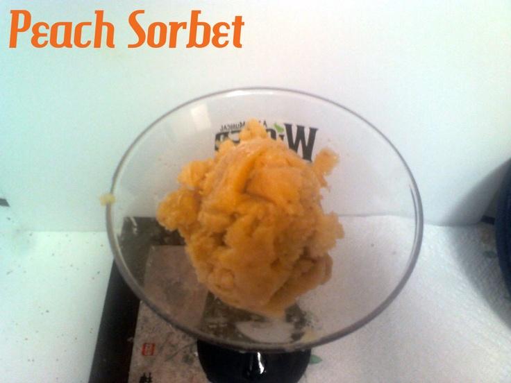Peach Sorbet | My recipes | Pinterest