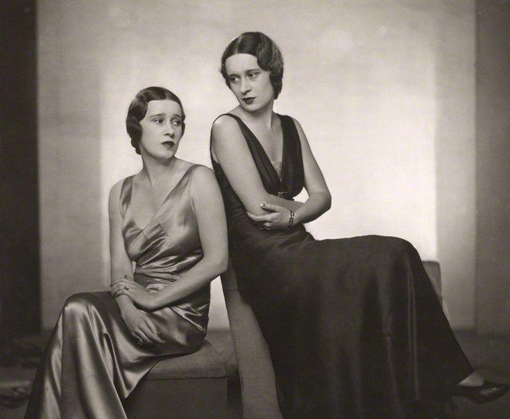 1932~Thelma (née Morgan), Viscountess Furness and her twin sister Gloria Vanderbilt (née Morgan)