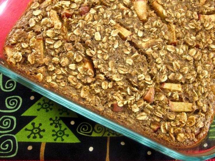 cinnamon apple oatmeal bake | Food/recipes | Pinterest