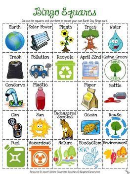 Free Earth Day Bingo Boards