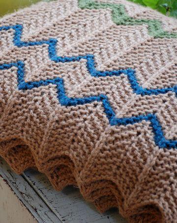 Knitting Pattern For Chevron Afghan : Chevron knit afghan Crochet & Knitting Pinterest