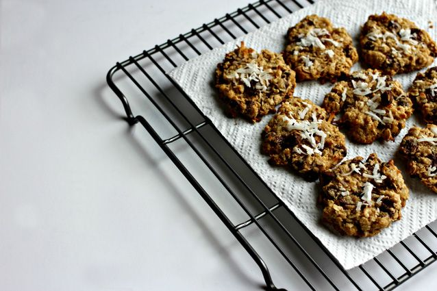 oatmeal, coconut chocolate chunk cookies | Food | Pinterest