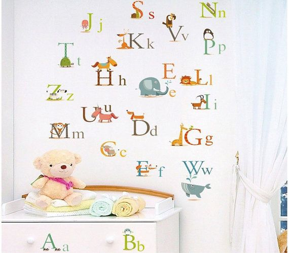 nursery children alphabet a to z wall stickers mural decal