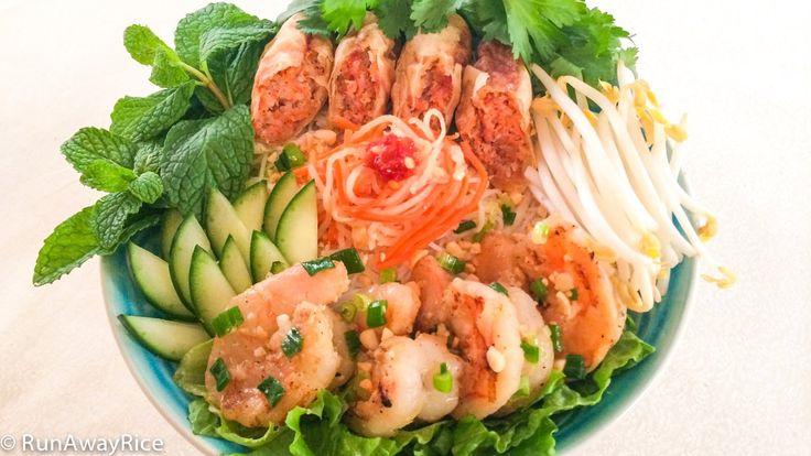 Vietnamese BBQ Shrimp Vermicelli (Bun Tom Heo Nuong) Recipes ...