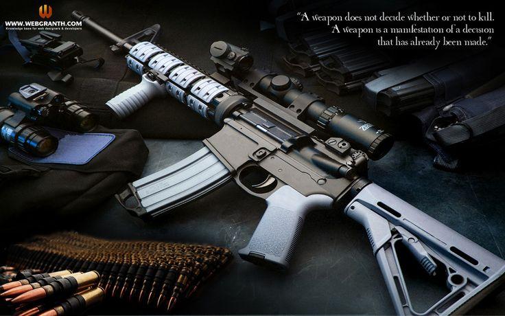 Hi-tech Machine Gun Desktop Background | Wallpapers ...