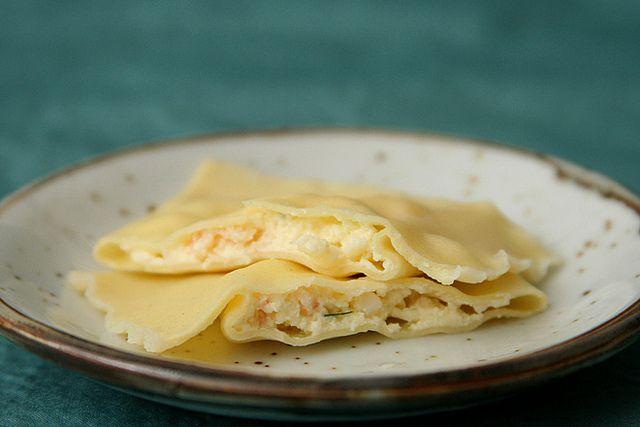 shrimp ricotta ravioli | recipes to make... | Pinterest