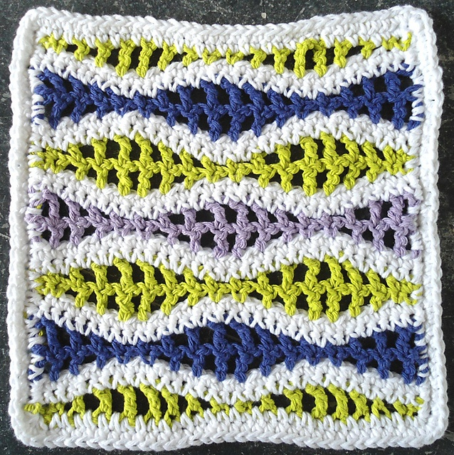 Wavy Ripple Dishcloth pattern Crochet Pinterest