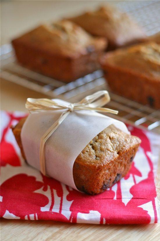 Peanut Butter Banana Chocolate Chip Bread (Mini-loaves!) | Recipe
