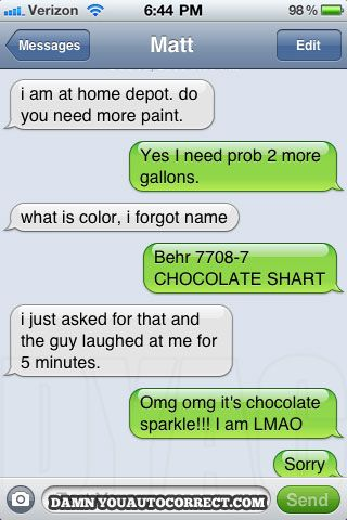 Oh Gawd. Best auto-correct EVER.
