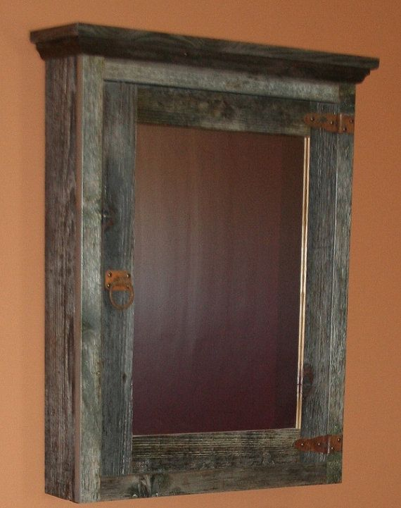 Weathered gray barnwood furniture weathered gray for Barnwood medicine cabinet