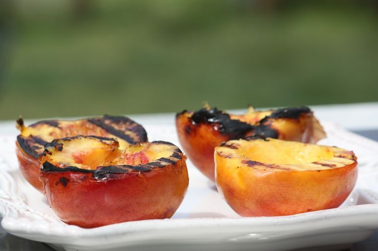 Grilled White Nectarines with Amaretto Spiked Mascarpone Recipe   The ...