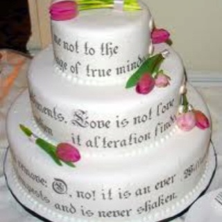 Cake With Romantic Poem Cakes Pinterest