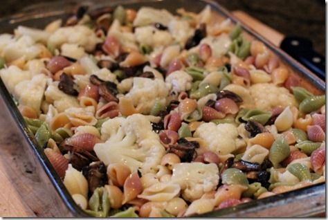 Cauliflower pasta with mushroom sauce | Meals and Sides | Pinterest