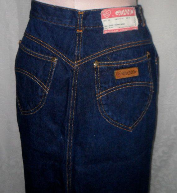 denim skirt by gitano size 10 vintage